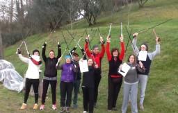 Ecco 7 nuovi Nordic Walkers del SI VA con i loro diplomi  della SINW
